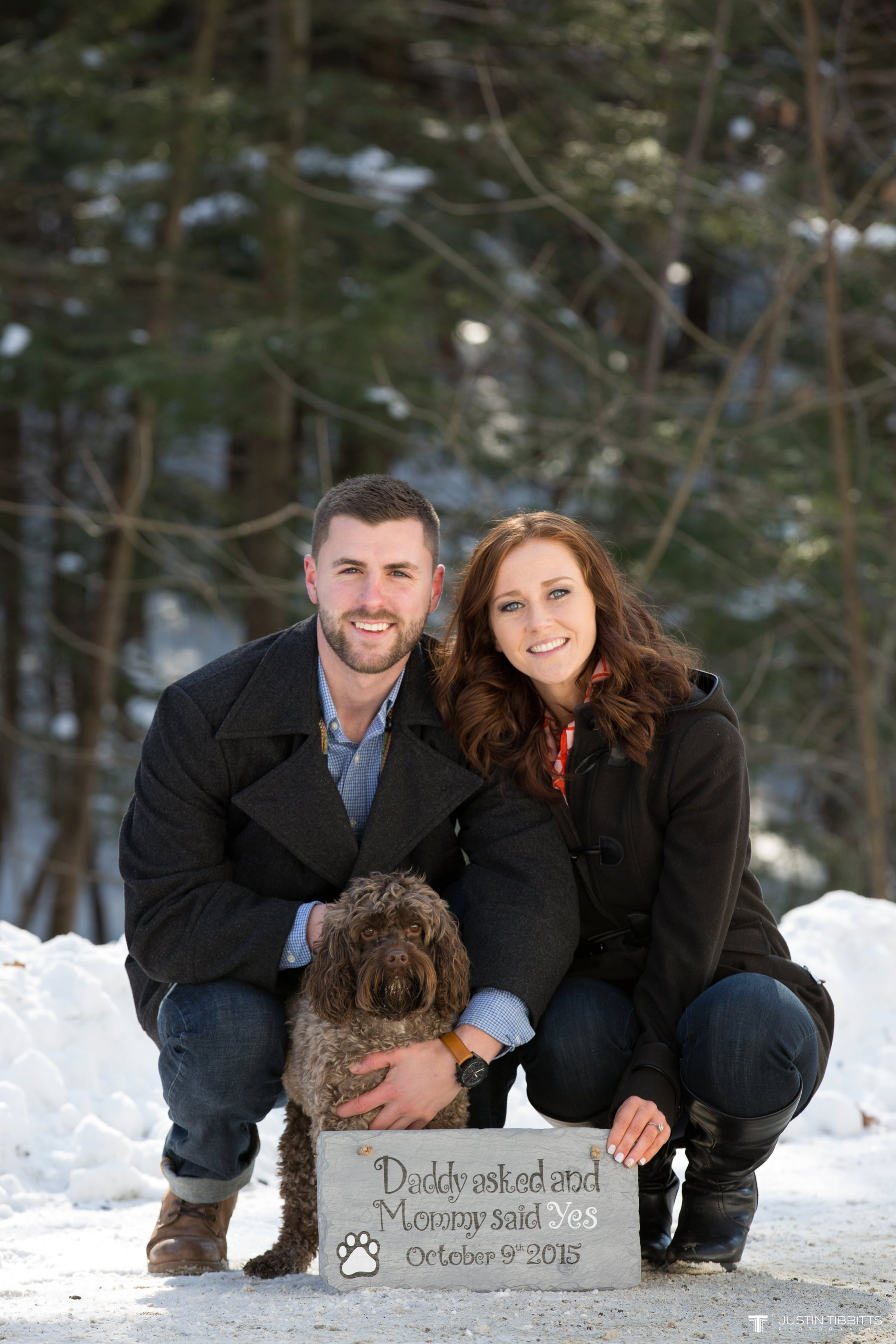 Carissa and Jason's Averill Park, NY Winter Engagement shoot-14
