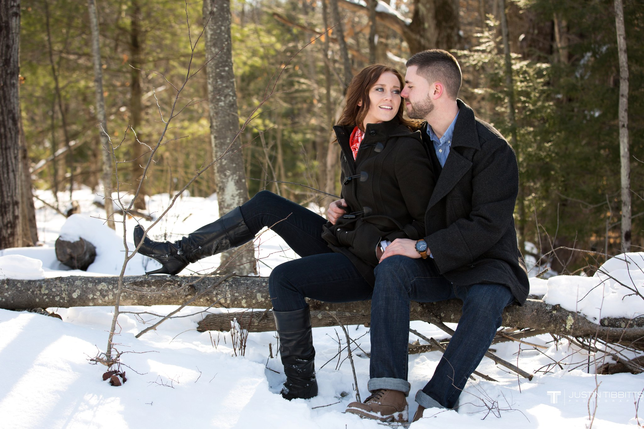 Carissa and Jason's Averill Park, NY Winter Engagement shoot-38