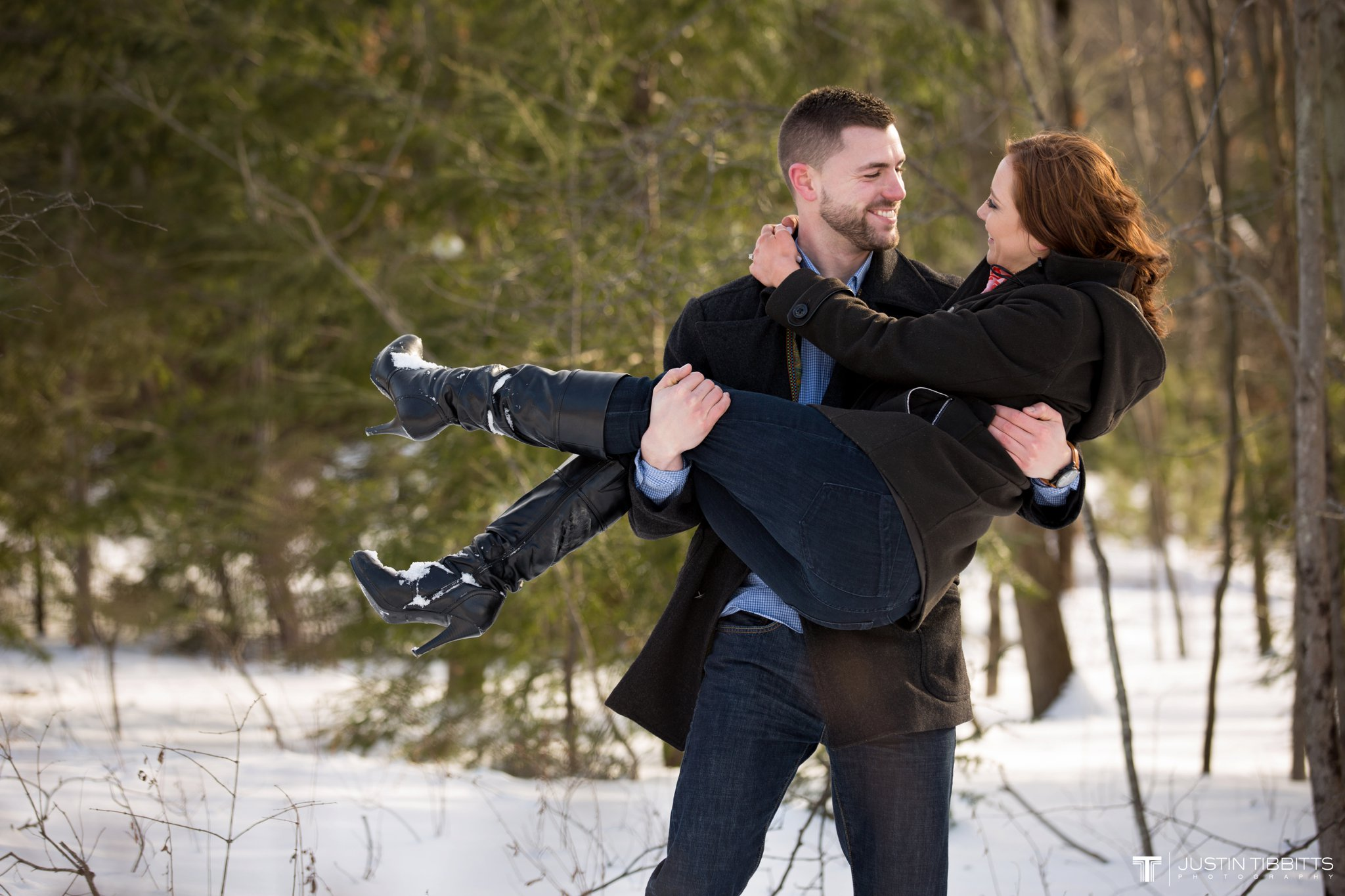 Carissa and Jason's Averill Park, NY Winter Engagement shoot-70