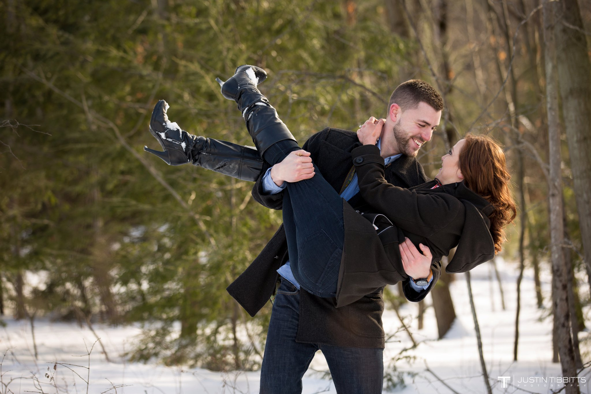 Carissa and Jason's Averill Park, NY Winter Engagement shoot-71