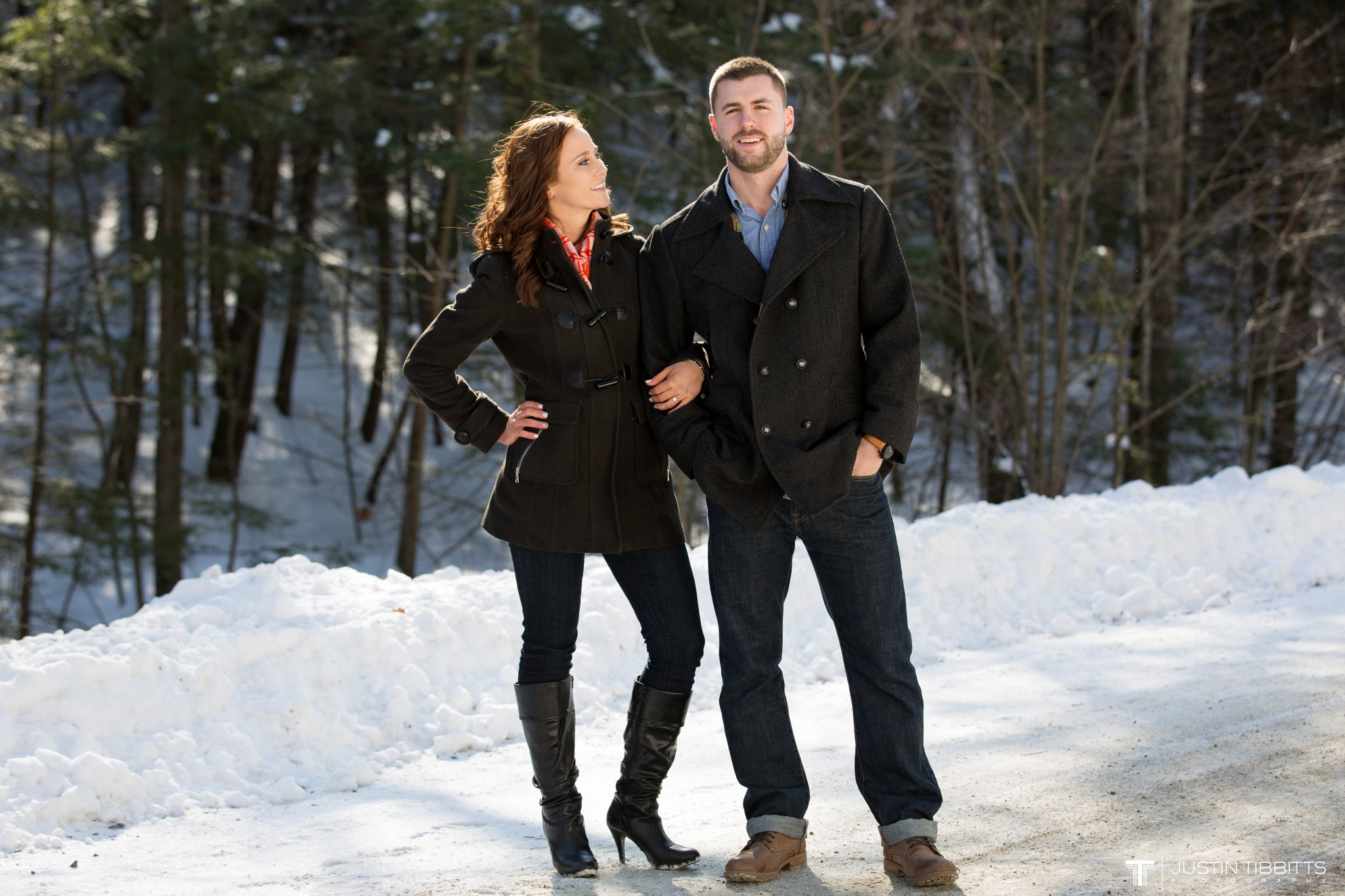 Carissa and Jason's Averill Park, NY Winter Engagement shoot-8