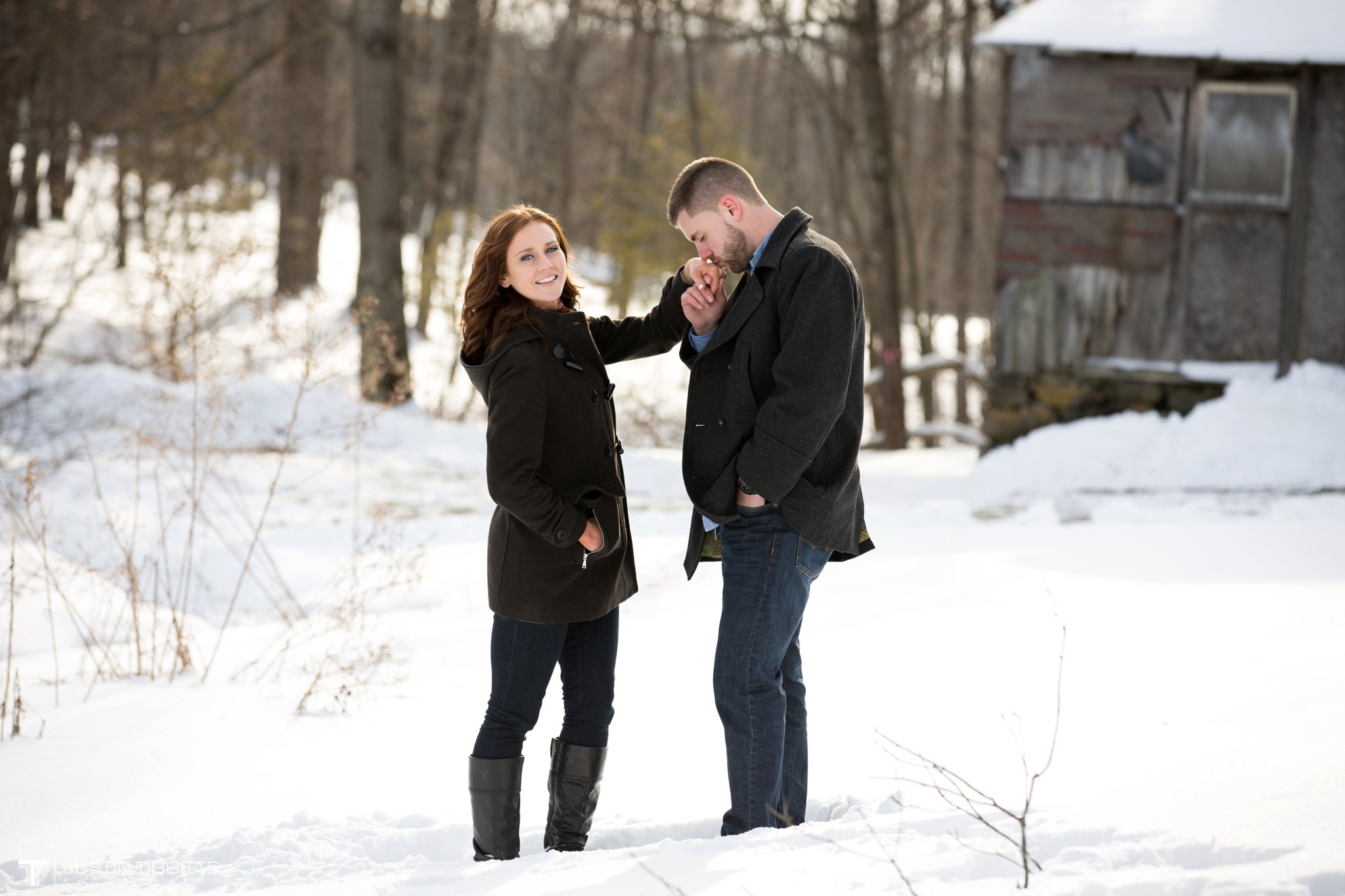 Carissa and Jason's Averill Park, NY Winter Engagement shoot-80