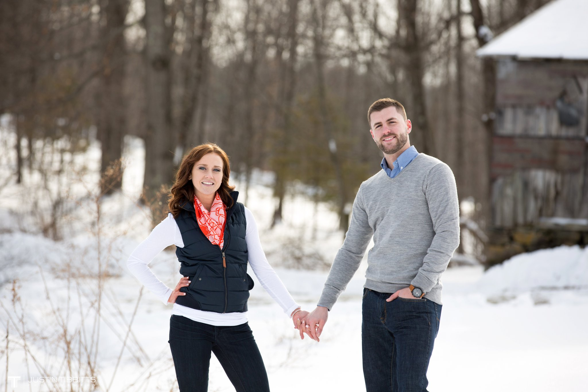 Carissa and Jason's Averill Park, NY Winter Engagement shoot-87