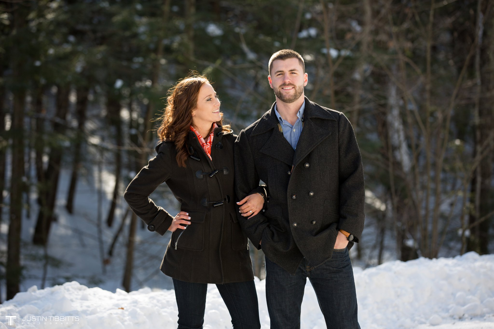 Carissa and Jason's Averill Park, NY Winter Engagement shoot-9