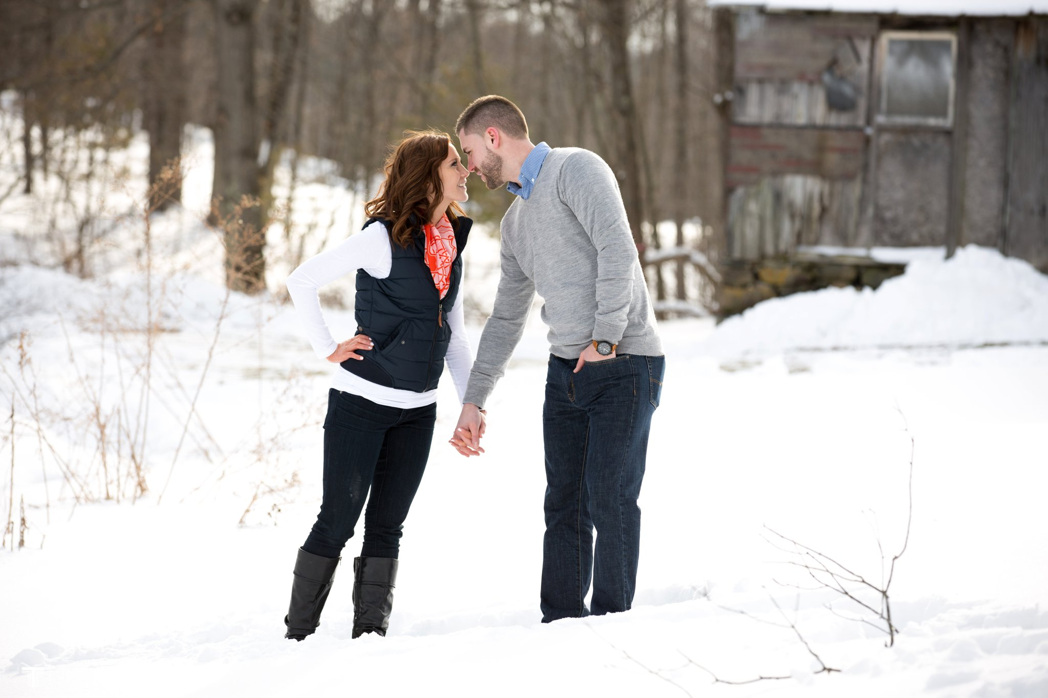Carissa and Jason's Averill Park, NY Winter Engagement shoot-90