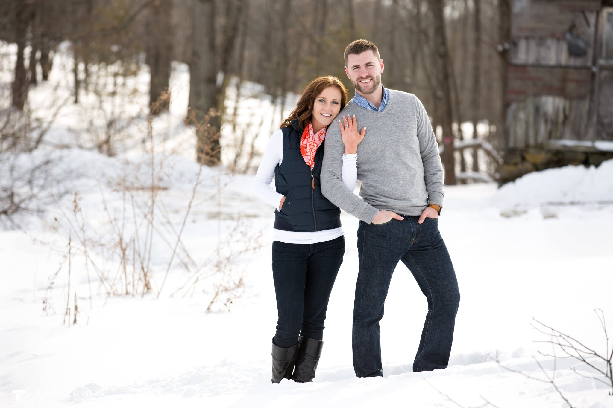 Carissa and Jason's Averill Park, NY Winter Engagement shoot-92