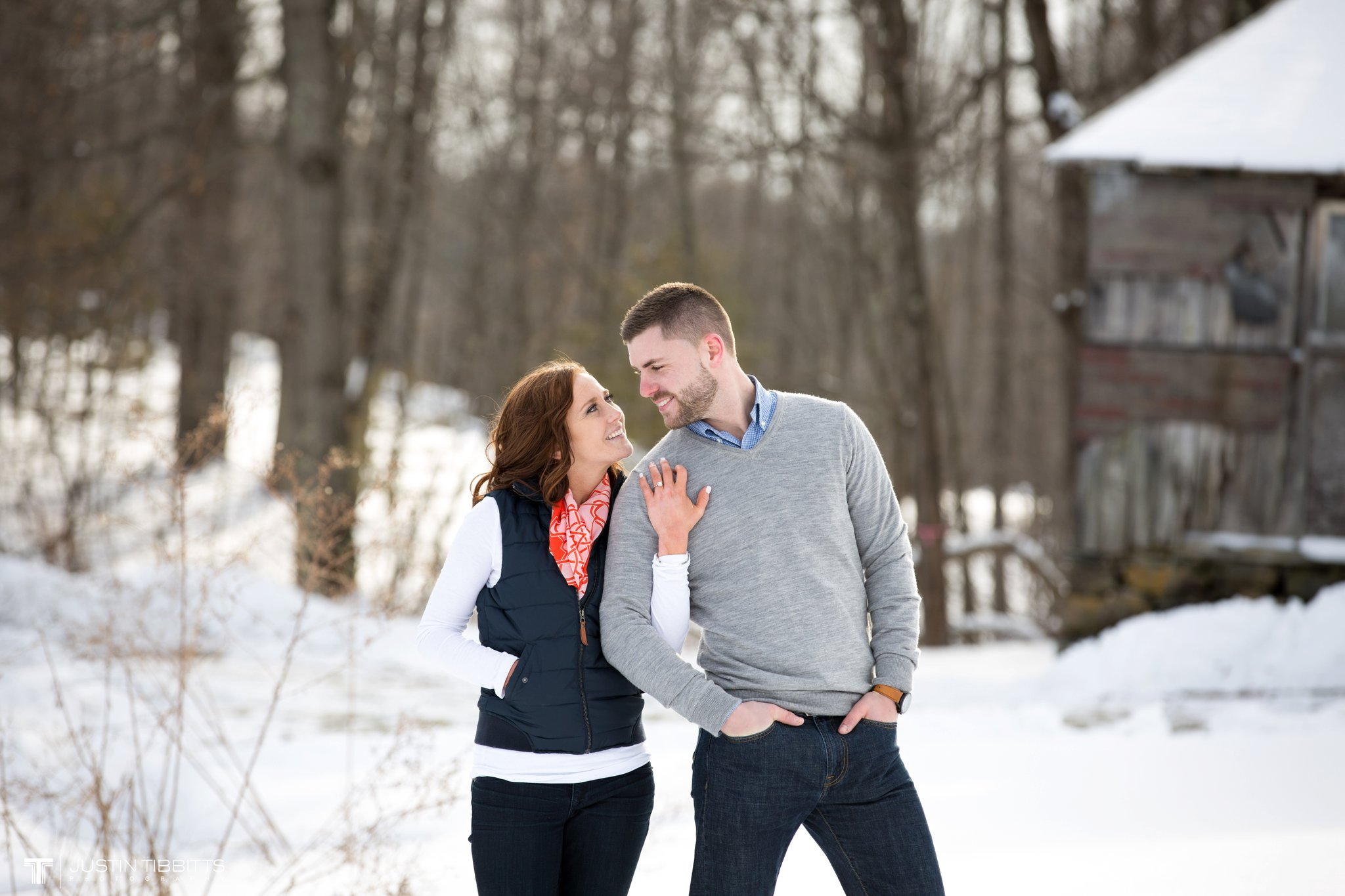 Carissa and Jason's Averill Park, NY Winter Engagement shoot-96